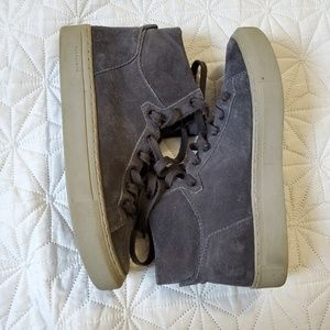 All Saints Hi Tops Suede Sneakers